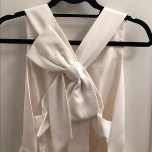 White Kate Spade Bow Dress size 2